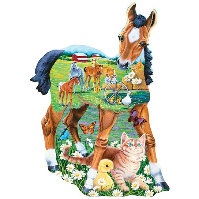 """""""Pony Playtime"""" 100 Piece Shaped Puzzle image number null"""