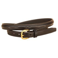 Tory Leather Raised Belt With Fancy Bridle Stitch