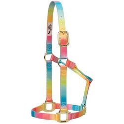 Weaver Leather Polyester Rainbow Adjustable Chin and Throat Snap Halter