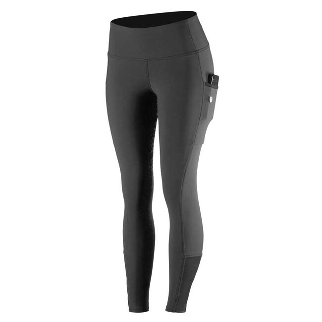 Horze Diana Women's Silicone Full Seat Riding Tights-Black-24 image number null