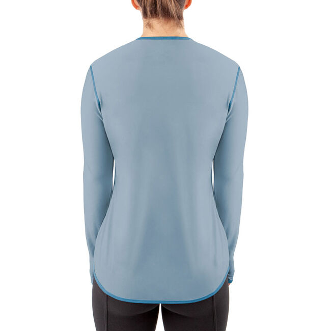 Irideon Women's Air-Tech Baselayer Crewneck Shirt - Mineral Blue image number null