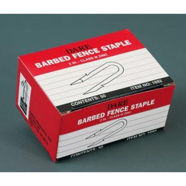 Dare 50 Pack Galvanized Barbed Fence Staples image number null