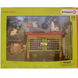 Schleich Rabbit Hutch Set Kids' Toy