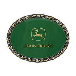 Montana Silversmiths John Deere® Two Tone Braided Oval Buckle