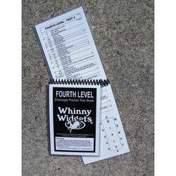 Whinny Widgets Fourth Level Dressage Test Book