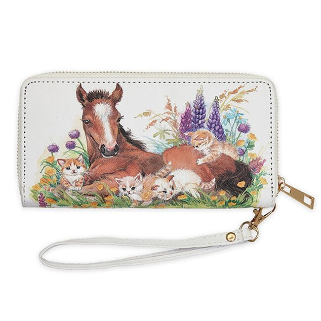 AWST Foal, Kittens and Flowers Wallet image number null
