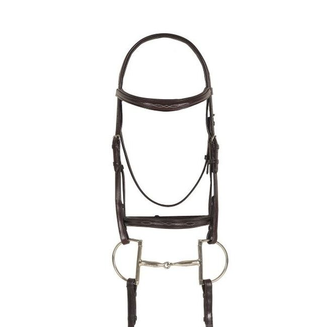 Ovation Breed Collection Fancy Stitched Raised Padded Bridle image number null
