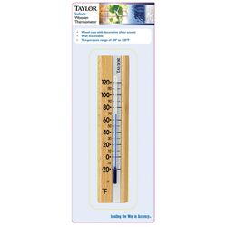 Taylor Indoor Wooden Wall Thermometer