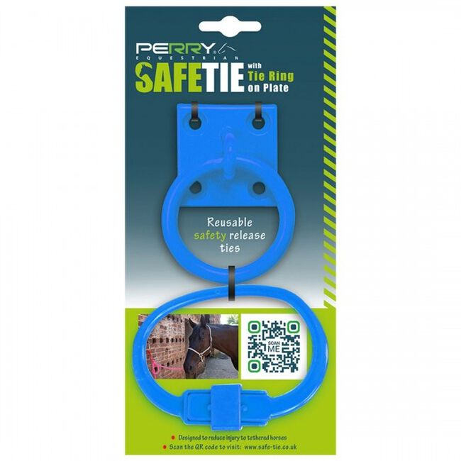 Perry Equestrian SafeTies with Tie Ring & Plate - Blue image number null