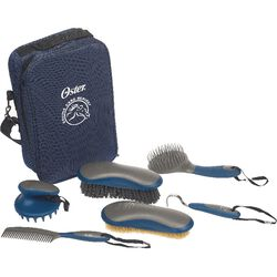 Oster 7 Piece Equine Grooming Set Blue