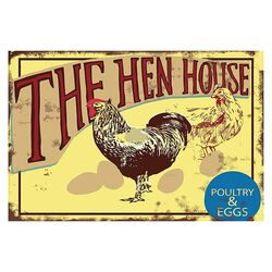 Fluffy Layers The Hen House Metal Sign