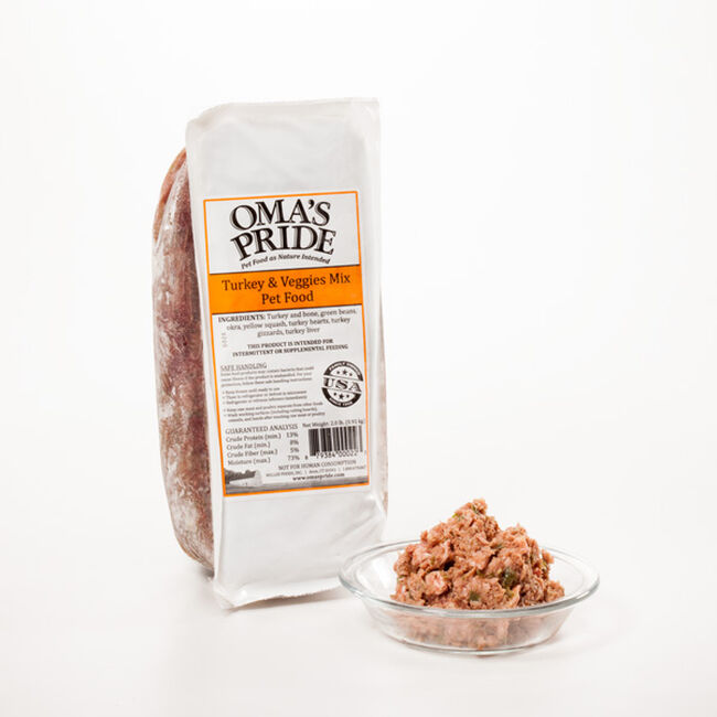 Oma's Pride Frozen Turkey & Veggie Mix for Dogs image number null