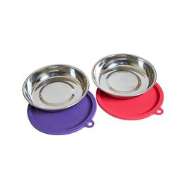 Messy Mutts Cat Bowls and Covers 2 Pack