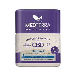 MedTerra CBD Wellness Immune Support + CBD Sleep Well Capsules