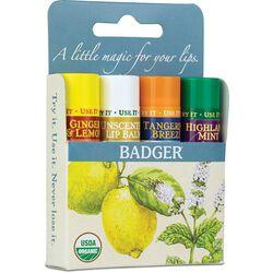 Badger Classic Lip Balm 4-Pack - Blue Box