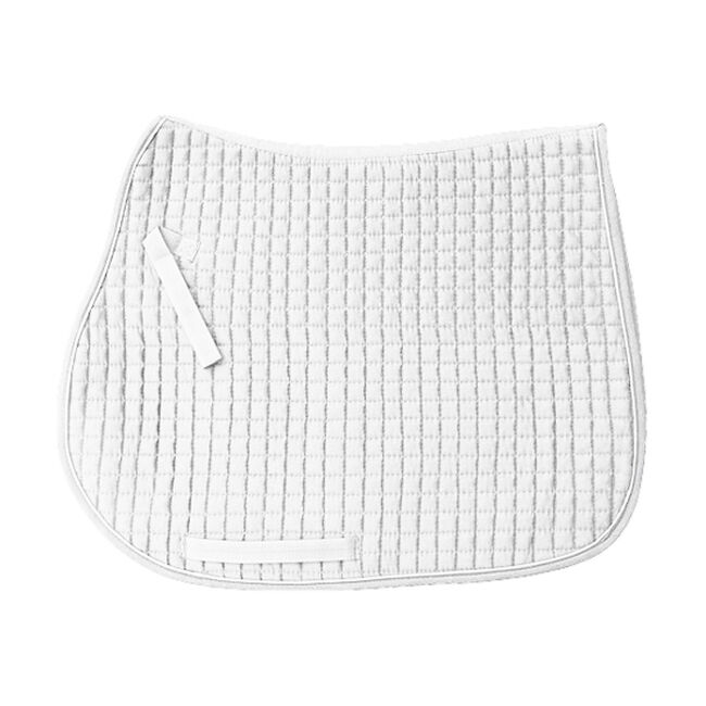 PRI 100% Cotton Quilted All-Purpose Pad w/ Colorful Trim & Piping - White/White image number null