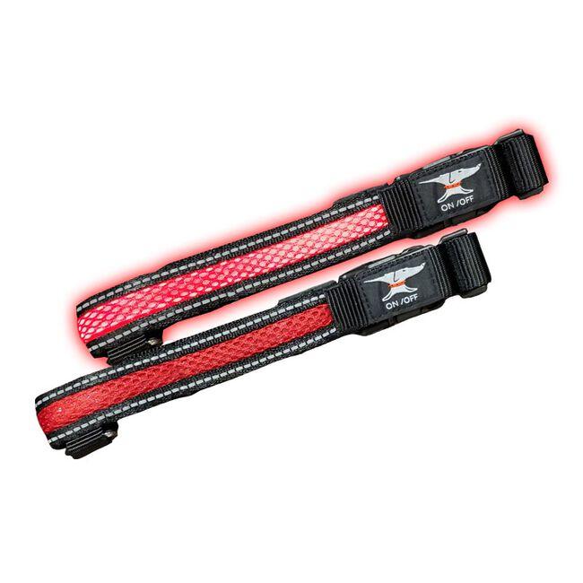 Steel Dog Safety USB Flashing Mesh Collar image number null