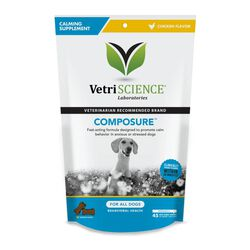 VetriScience Composure Chicken Flavored Calming Chews for Dogs