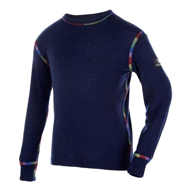 Janus Kids' Rainbow Wool Long Sleeved Shirt - Navy image number null