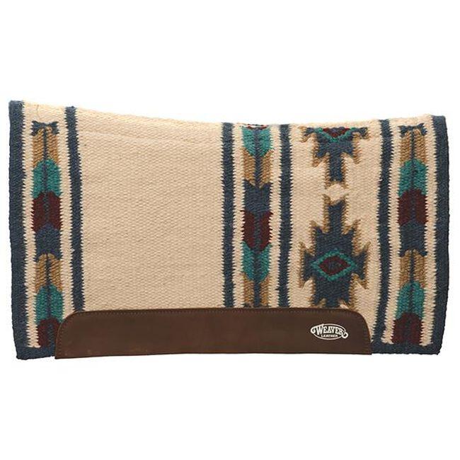 Weaver Leather Flex Contour Wool Blend Felt Saddle Pad - Charcoal/Turquoise image number null
