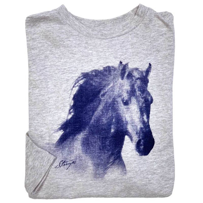 Stirrups Horse Head Youth Long Sleeved Tee Shirt image number null