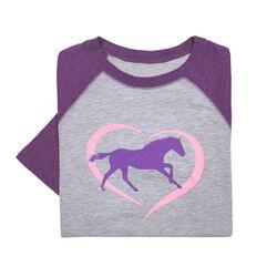Stirrups Horse Heart Youth Long Sleeved Tee Shirt