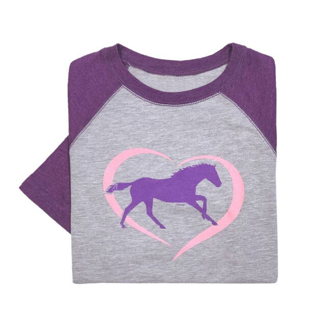 Stirrups Horse Heart Youth Long Sleeved Tee Shirt image number null