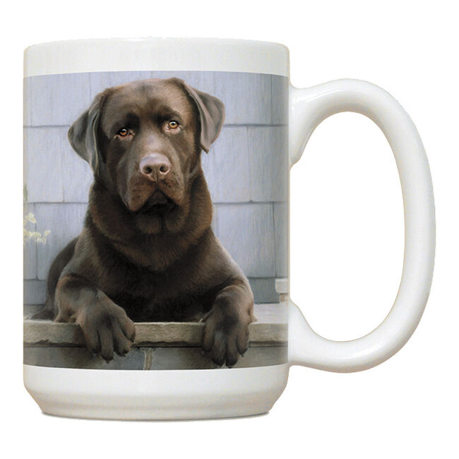 Fiddler's Elbow Chocolate Lab On Porch Mug image number null