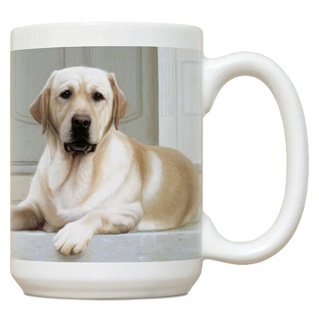 Fiddler's Elbow Yellow Lab On Porch Mug image number null