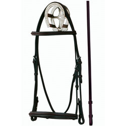Bobby's Silver Spur Raised Snaffle Bridle Small Pony