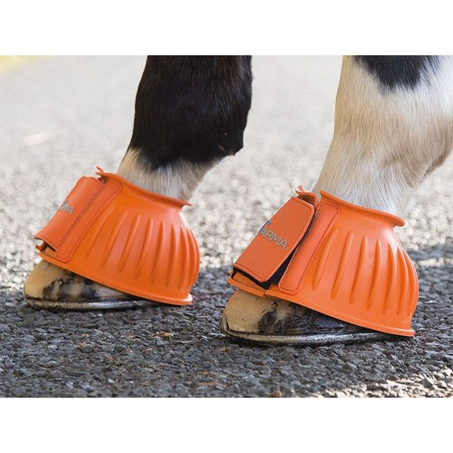 Shires ARMA Touch Close Bell Boots - Orange image number null