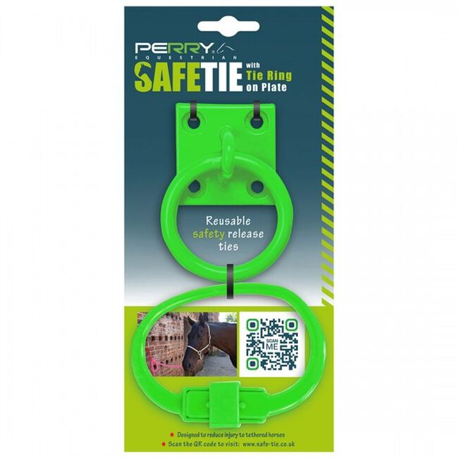 Perry Equestrian SafeTies with Tie Ring & Plate - Green image number null