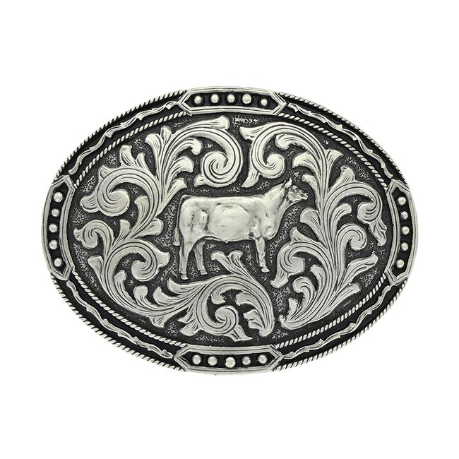Montana Silversmiths Antiqued Classic Show Heifer Attitude Buckle image number null