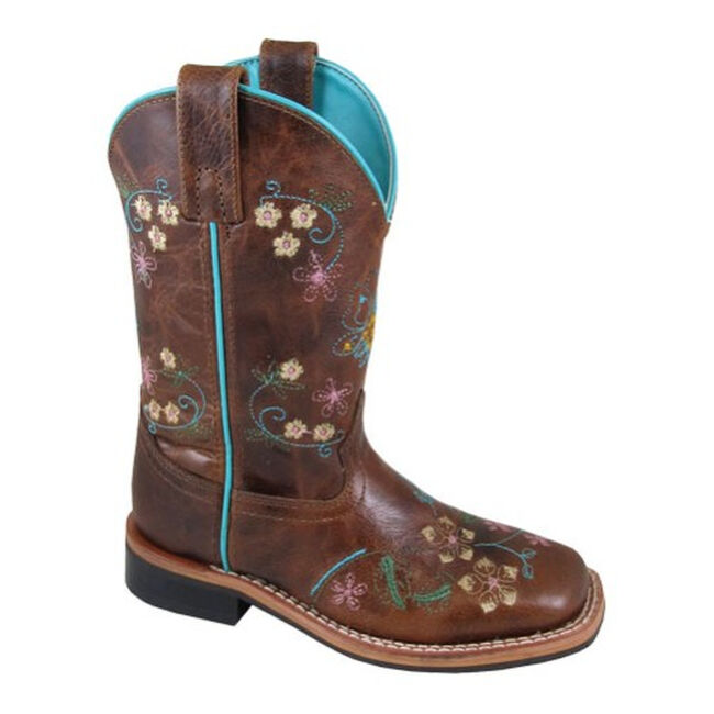 Smoky Mountain Floralie Youth Western Leather Boot image number null