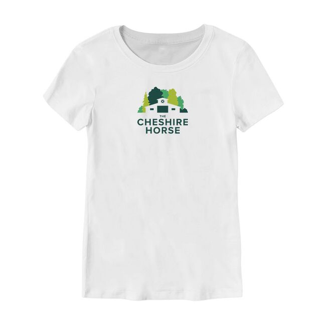 The Cheshire Horse Barn Logo Ladies Fitted Tee image number null