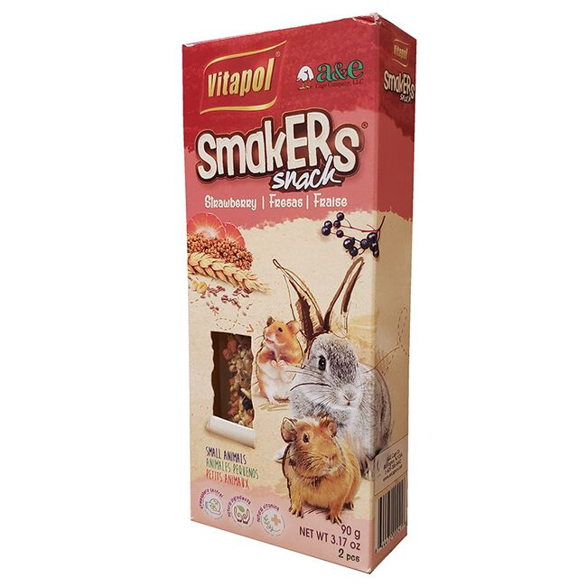Vitapol Smakers Strawberry Snack for Small Animals image number null