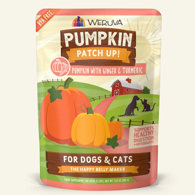 Weruva Pumpkin Patch Up Pumpkin w/ Ginger & Tumeric Supplement for Cats & Dogs - 2.8oz image number null