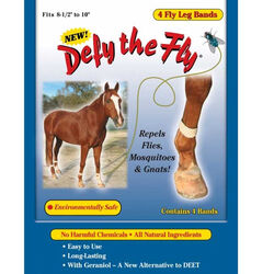 Defy The Fly Equine Fly Leg Bands (Set of 4)