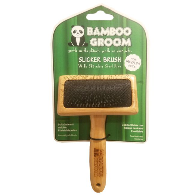 PAW Bamboo Groom Slicker Medium Length for Most Pet Coats image number null