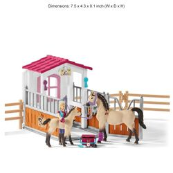 Schleich Horse Stall with Arab Horses & Groom Play Set Kids' Toy