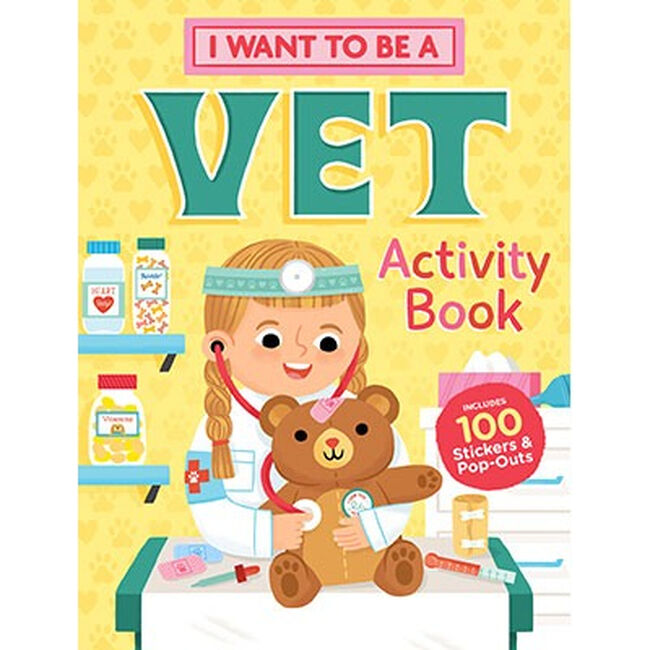 I Want To Be A Vet: A Children's Activity Book image number null