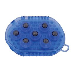 Partrade Gel Groomer Massage Mitt with Magnetic Rollers