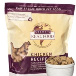Steve's Real Food Freeze Dried Diet - Chicken Nuggets Dog Food