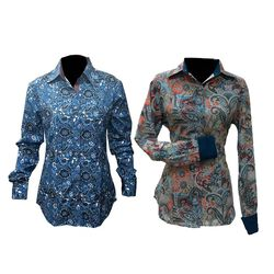 RHC Equestrian Ladies Easy Care Round Up Floral Show Shirt