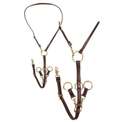 Tory Leather H Deluxe Havana Draw Rein Martingale