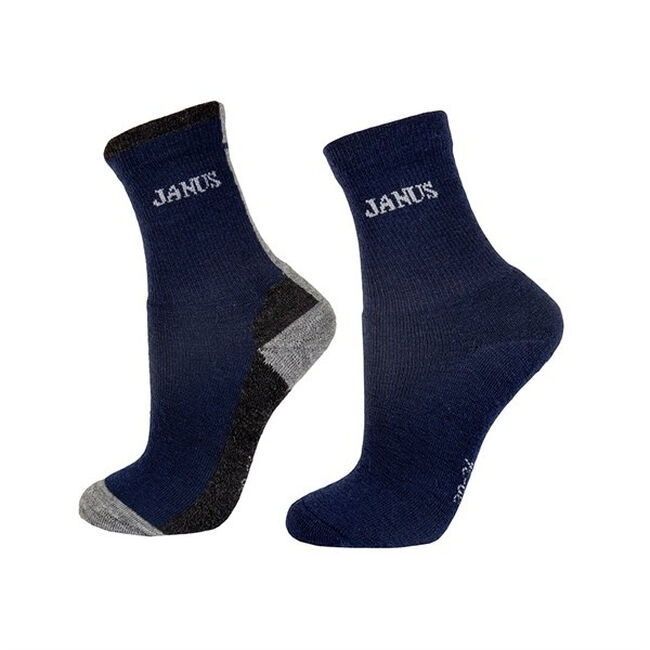 Janus Kids' Terry Wool Socks - 2 Pair - Navy image number null