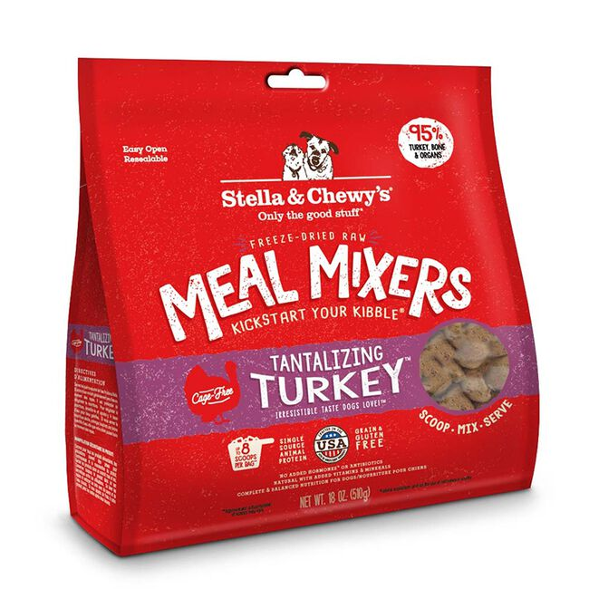 Stella & Chewy's Tantalizing Turkey Freeze-Dried Meal Mixer for Dogs - 18oz image number null
