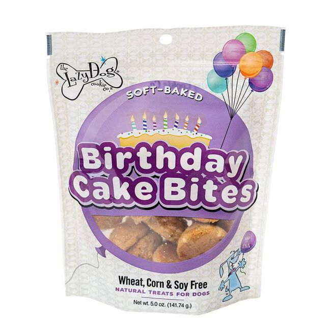 The Lazy Dog Cookie Co. Soft Baked Birthday Cake Bites image number null