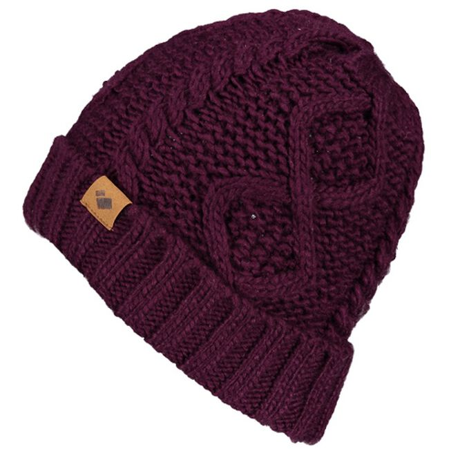 Obermeyer Ladies Phoenix Cable Knit Hat - Drop the Beet image number null