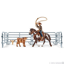 Schleich Team Roping with Cowboy Set